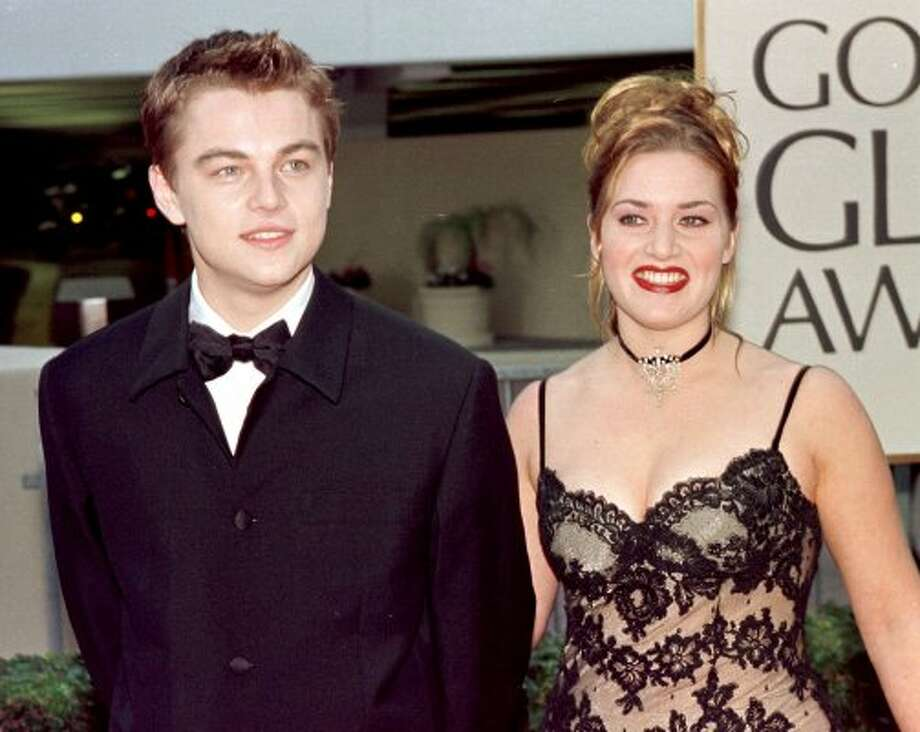 """Titanic"" made Leonardo DiCaprio and Kate Winslet big stars in the '90s. They're pictured here at the 1998 Golden Globe Awards, where they were both nominated for best acting.  (AFP/Getty Images)"