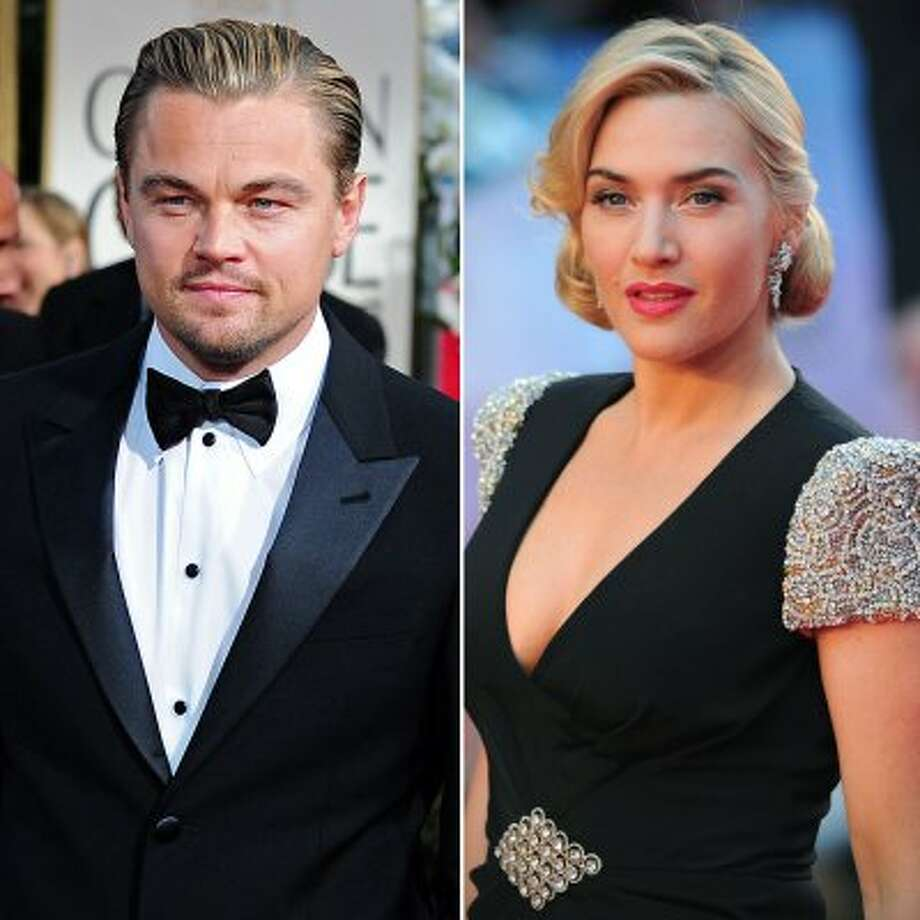 "Leonardo DiCaprio and Kate Winslet in 2012. Winslet is pictured at the ""Titanic 3D"" premiere in London on March 27.  (Getty Images)"