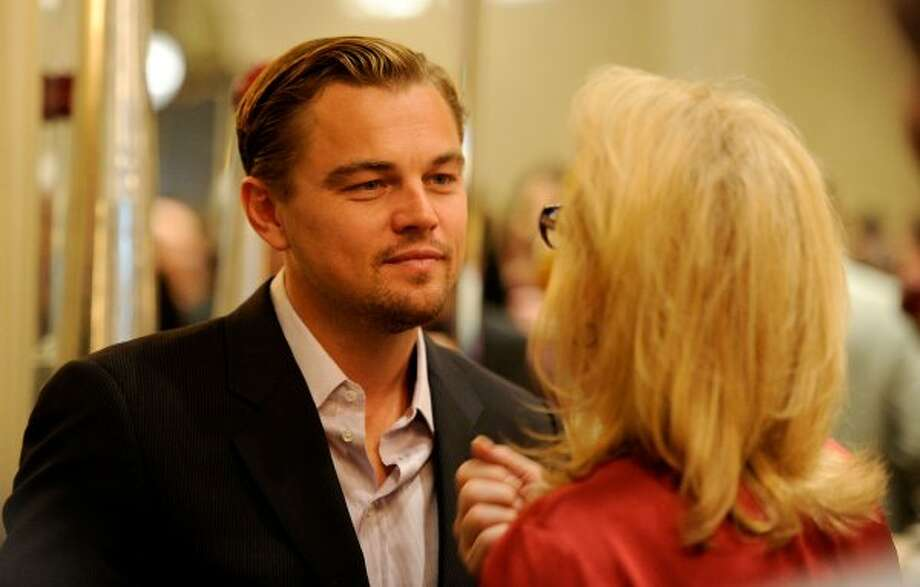 So grown-up. Leonardo DiCaprio talks with Meryl Streep at the BAFTA Awards Season Tea Party on Jan. 14. (Frazer Harrison / Getty Images For BAFTA Los Angel)
