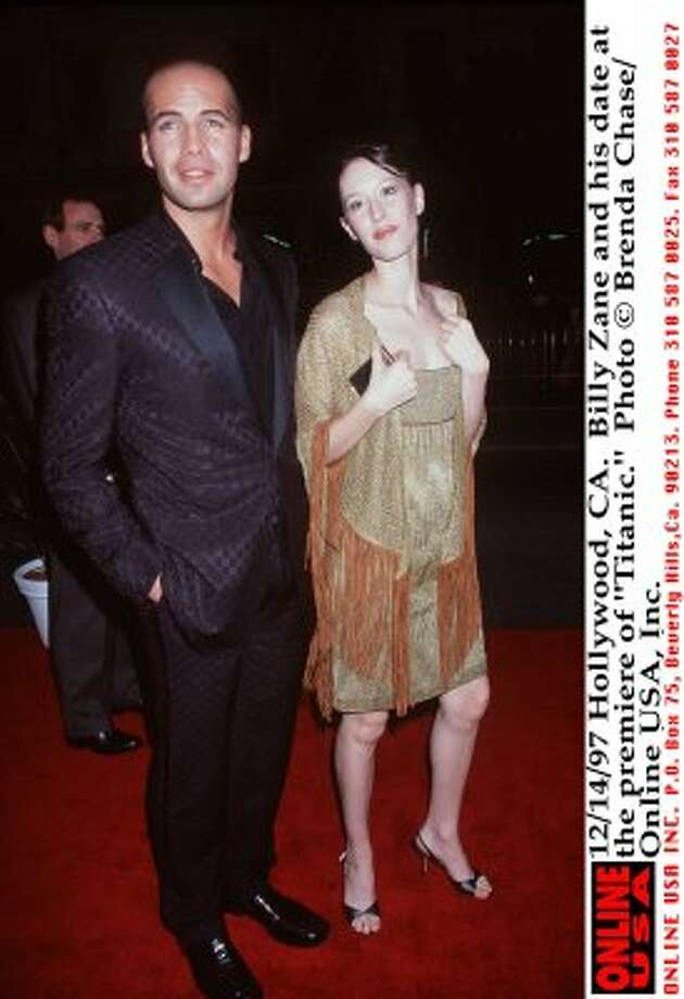"""Billy Zane and Jessica Murphy at the 1997 premiere of """"Titanic."""" (Brenda Chase / Getty Images)"""