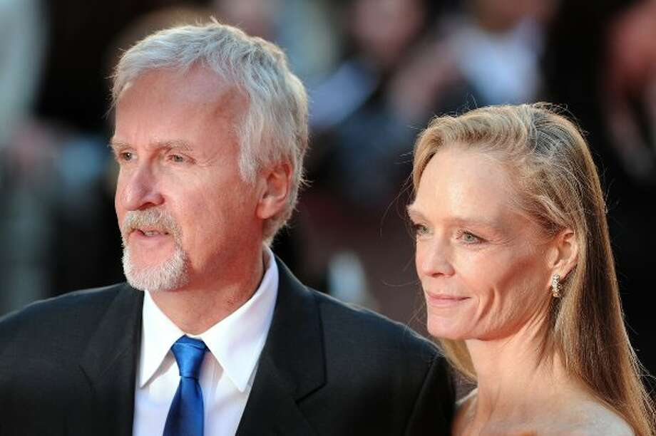 "Suzy Amis and husband James Cameron on March 27 for the premiere of ""Titanic 3D."" (CARL COURT / AFP/Getty Images)"