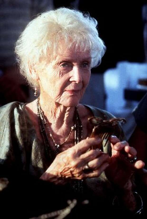 "Gloria Stuart, who was 86 while playing elderly Rose in ""Titanic,"" died in 2010 at the age of 100. She had appeared in 46 movies. (MERIE WALLACE / AFP/Getty Images)"