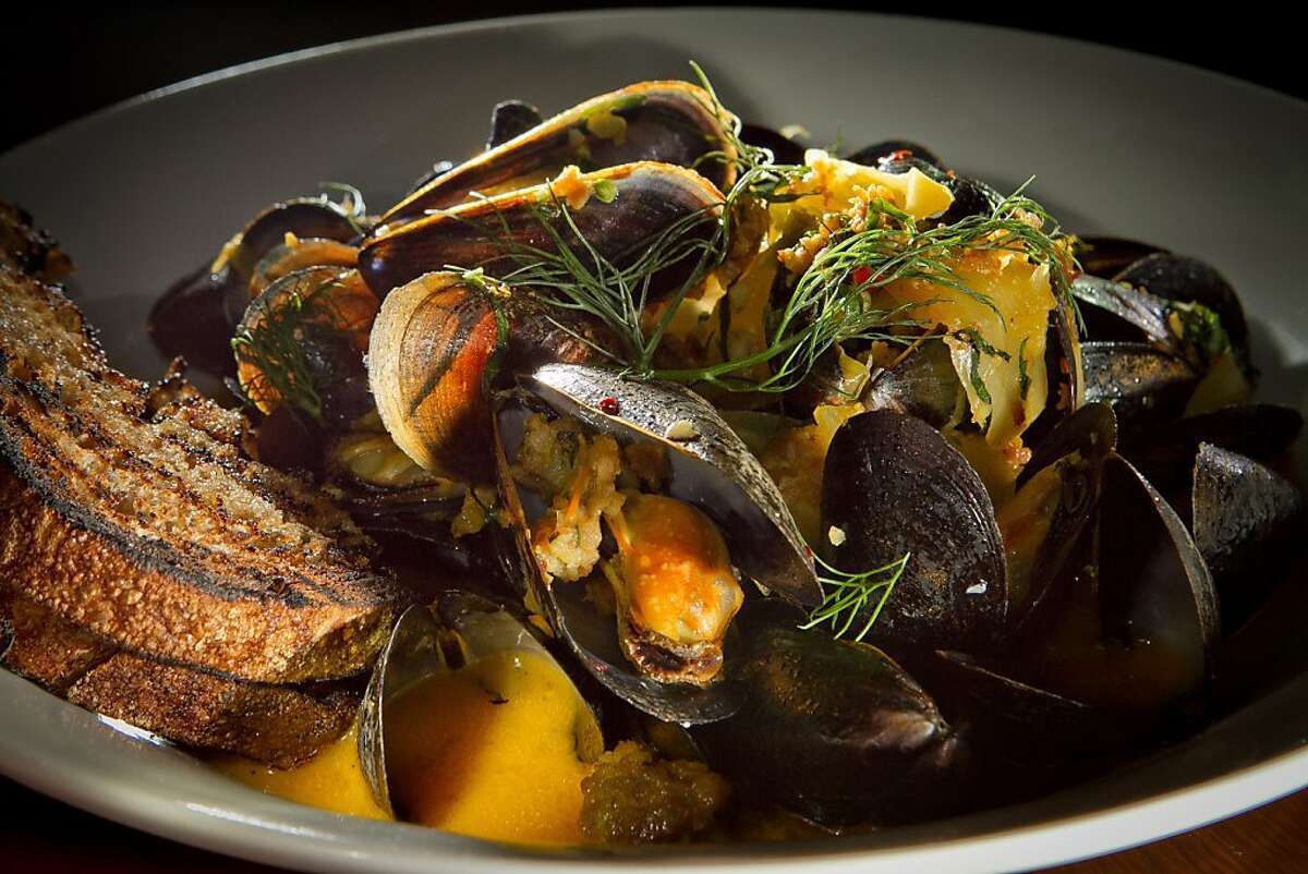 The steamed PEI Mussels at Per Diem restaurant in San Francisco, Calif., is seen on Friday, March 30th, 2012.