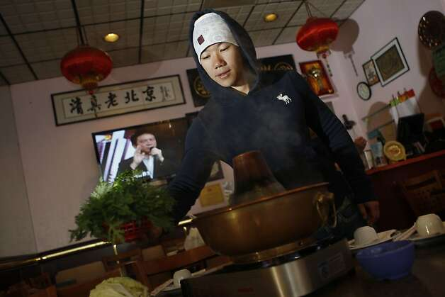 Square 28: Hot pot is the star at Old Mandarin Islamic Restaurant. Photo: Liz Hafalia, The Chronicle