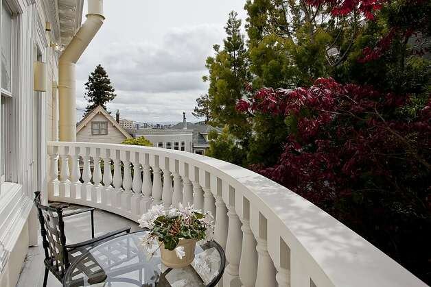 Listing agent Mindy Kershner says one of the Noe Valley home's key features is it opens to gardens on every level, while many comparable properties have views of the house next door. Photo: Open Homes Photography