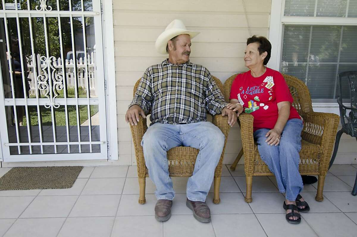 JosŽ and Hortencia Franco have lived in Parklawn for decades. Hortencia Franco was one of a dozen residents who filed a lawsuit against Modesto and Stanislaus County claiming that racial discrimination is one reason Latino neighborhoods like Parklawn have not received timely infrastructure upgrades.