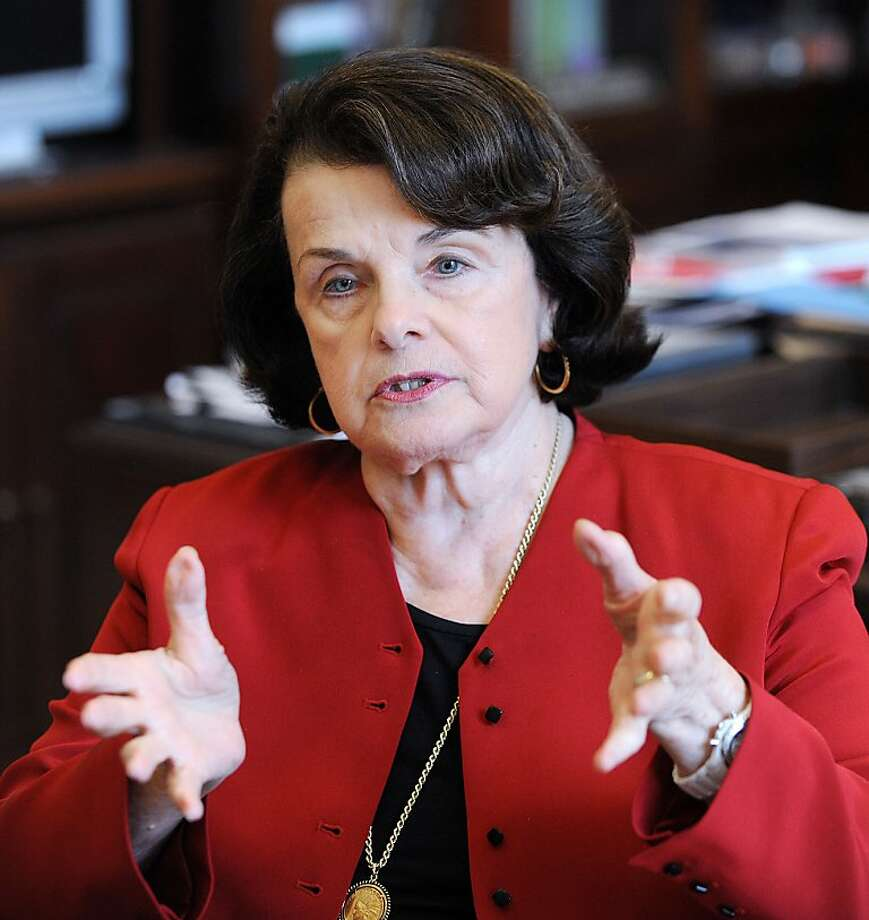 Sen. Dianne Feinstein (D-CA) is photographed in her office on Capitol Hill in Washington, DC, on March 19, 2012. (Olivier Douliery/Abaca Press/MCT) Photo: Olivier Douliery, McClatchy-Tribune News Service