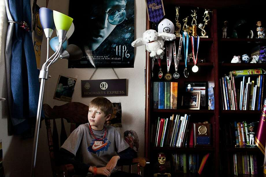 C.J. Banaszek, who was diagnosed a month ago with a rare form of leukemia, in his room in Petaluma, Calif., March 29, 2012. Photo: Jason Henry, Special To The Chronicle
