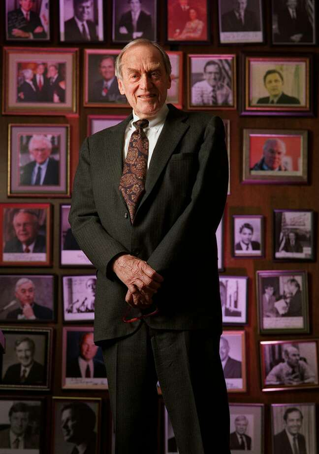 """Bernard Rapoport, founder of the American Income Life Insurance Co. in Waco, was known as a """"friend of presidents"""" and as a longtime contributor to Jewish causes. He died Thursday at 94. Photo: Erich Schlegel / DALLAS MORNING NEWS"""