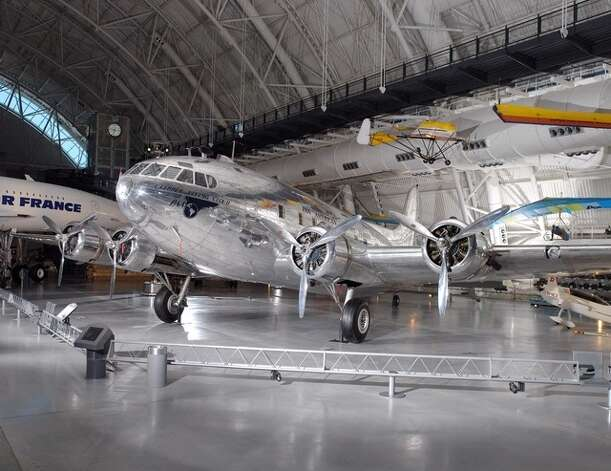 Another view of the last remaining Stratoliner, the Flying Cloud, which lives in the Smithsonian National Air and Space Museum's Steven F. Udvar-Hazy Center. Photo: Picasa, National Air And Space Museum