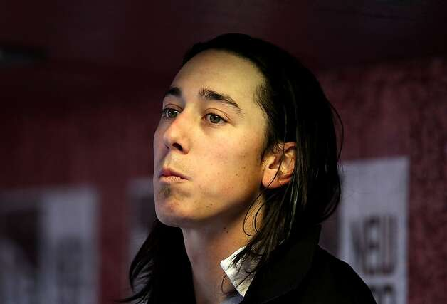 Starting pitcher Tim Lincecum of the San Francisco Giants watches from the dugout during the Opening Day game against the Arizona Diamondbacks at Chase Field on April 6, 2012 in Phoenix, Arizona. Photo: Christian Petersen, Getty Images