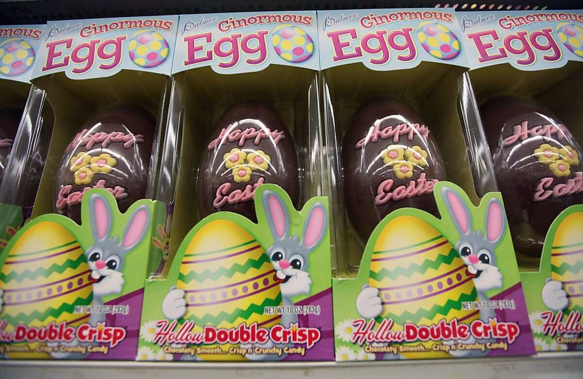 Easter eggs 600 - 800 calories = one hour of jogging or rowing, or vigorous game of basketball