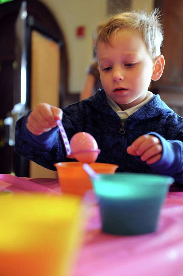 The Round Hill Community Church in Greenwich will be hosting an Easter Workshop for children on April 19 from 2 to 3 p.m. where they can do arts and crafts and help decorate the Church for its Easter celebration. Find out more.  Photo: Autumn Driscoll / Connecticut Post