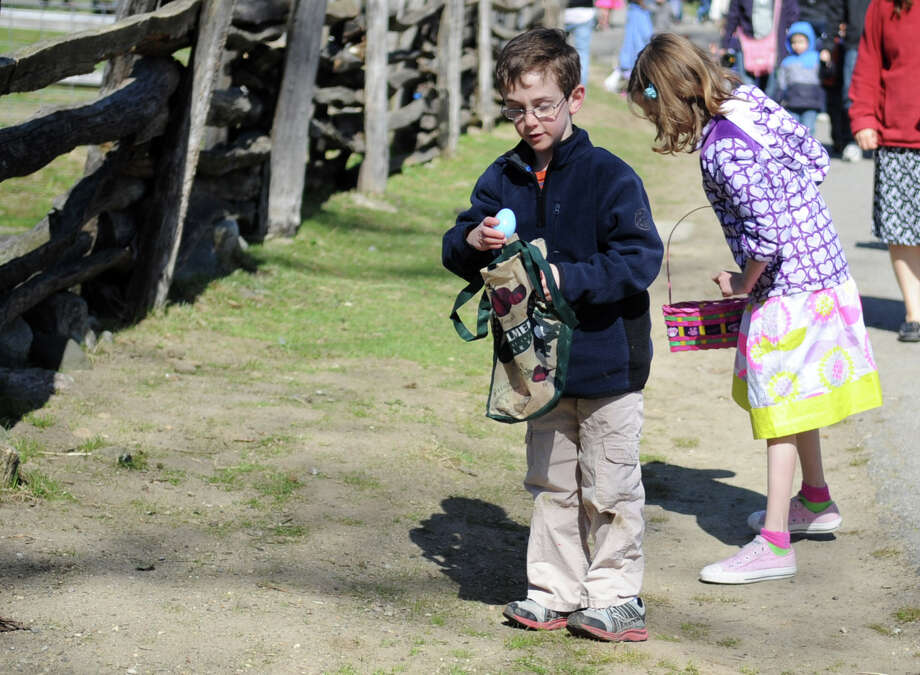 Saturday's 8th annual Easter Egg Hunt at Heckscher Farm at the Stamford Museum and Nature Center on April 7, 2012. Photo: Lindsay Niegelberg / Stamford Advocate