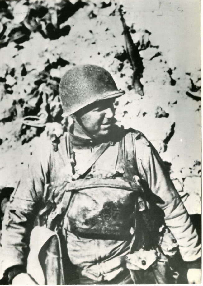 James Earl Rudder, as a lieutenant colonel in the U.S. Army, led a Ranger unit ashore on D-Day. The Rangers had to climb tall cliffs to disable German artillery. Photo: Earl Rudder