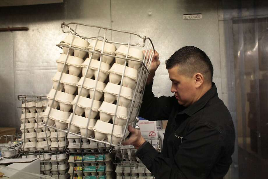"Thankfully, meat inspectors are considered ""essential"" and remained at work during the shutdown. But federal workers who inspect just about everything else, such as fruit and eggs, were furloughed. Welcome back, food inspectors. We can all eat a little easier now. Photo: Lea Suzuki, The Chronicle"