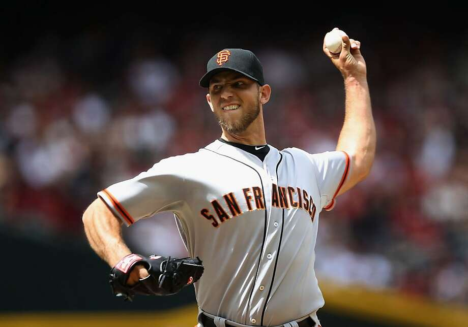 PHOENIX, AZ - APRIL 07:  Starting pitcher Madison Bumgarner #40 of the San Francisco Giants pitches against the Arizona Diamondbacks during the MLB game at Chase Field on April 7, 2012 in Phoenix, Arizona.  (Photo by Christian Petersen/Getty Images) Photo: Christian Petersen, Getty Images