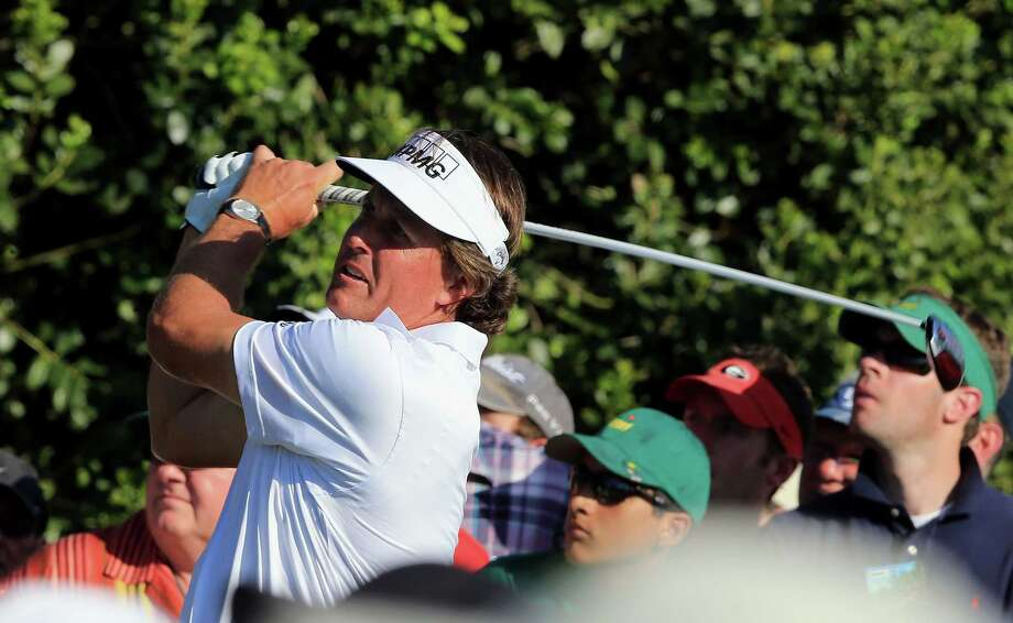Phil Mickelson's dazzling 6-under back nine Saturday left him one stroke off the lead at the Masters. Photo: David Cannon / 2012 Getty Images