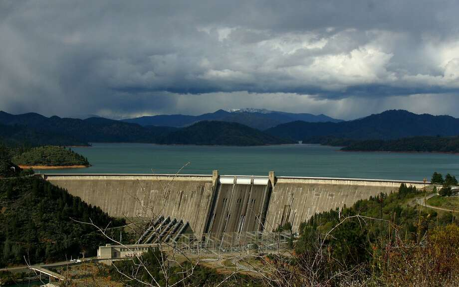 Shasta Lake, which was 88 percent full in 2012,  is now about half full due to drought. Photo: Tom Vance, Courtesy