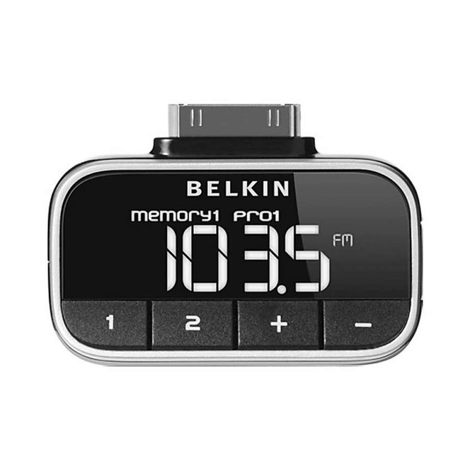Belkin TuneFM allows you to play your music on any FM stereo. MSRP: $49.99 Photo: Belkin
