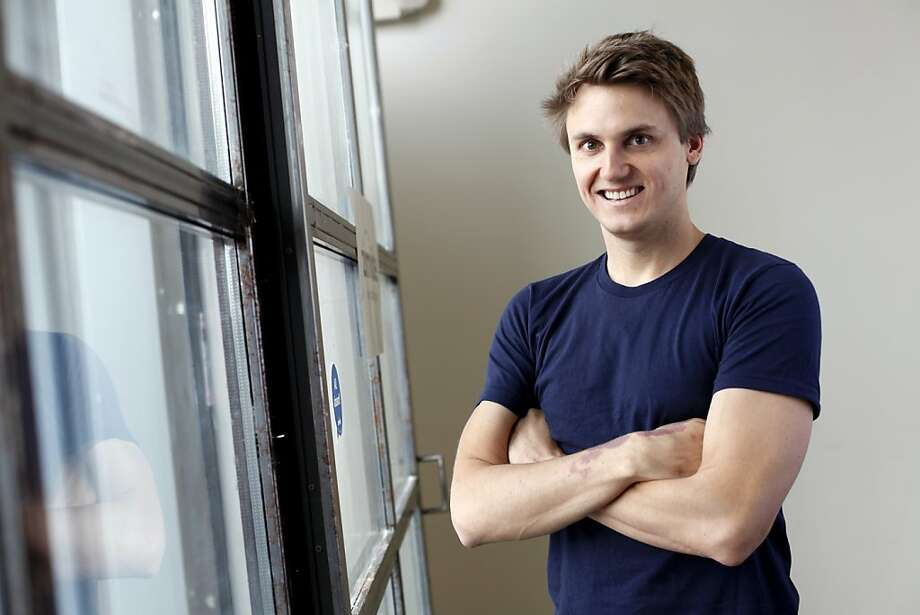 Paul Davison is the CEO of Highlight, a mobile app that senses people in your area you may know and shows you their profiles.  He is photographed at their offices in San Francisco, Calif., Wednesday, March 28, 2012. Photo: Sarah Rice, Special To The Chronicle