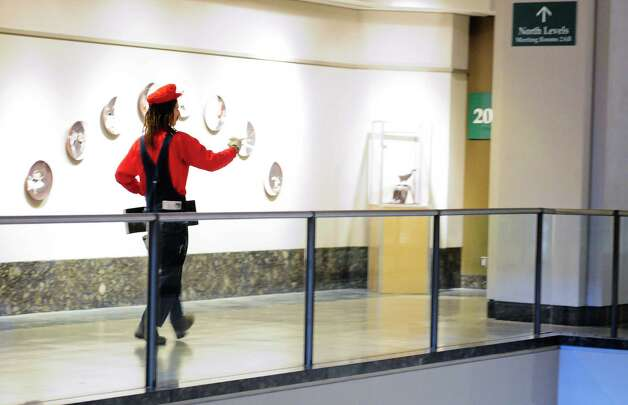 A man dressed as Mario runs through the Washington State Convention Center playing his theme music. Photo: LINDSEY WASSON / SEATTLEPI.COM