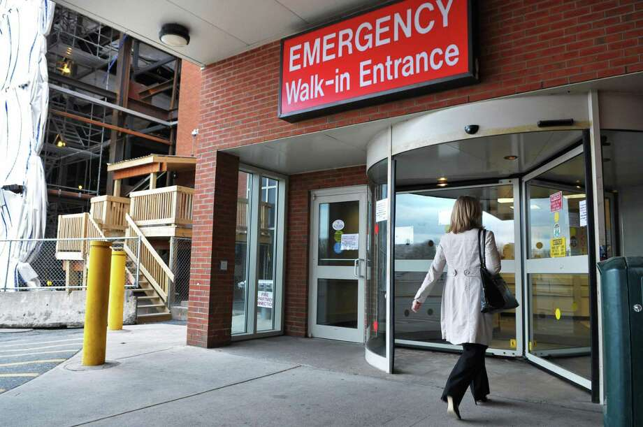 The emergency entrance at Albany Medical Center Thursday March 29, 2012.   (John Carl D'Annibale / Times Union) Photo: John Carl D'Annibale