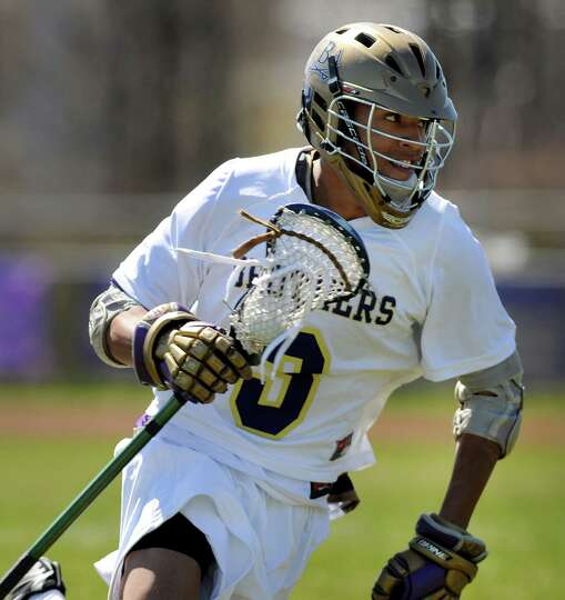 CBA's Torey Williams (3) runs with the ball during their lacrosse game against Schenectady on Saturd