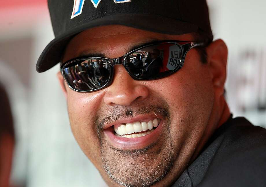 CINCINNATI, OH - APRIL 05:  Ozzie Guillen the manager of the Miami Marlins talks to the media before the game against the Cincinnati Reds at Great American Ball Park on April 5, 2012 in Cincinnati, Ohio.  (Photo by Andy Lyons/Getty Images) Photo: Andy Lyons, Getty Images