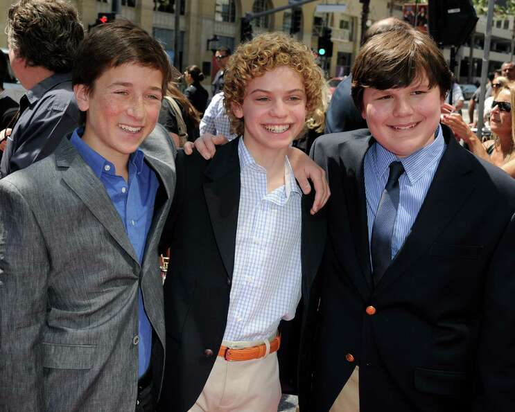 Actors Skyler Gisondo, Lance Chantiles-Wertz and Robert Capron arrive at the premiere of Twentieth C