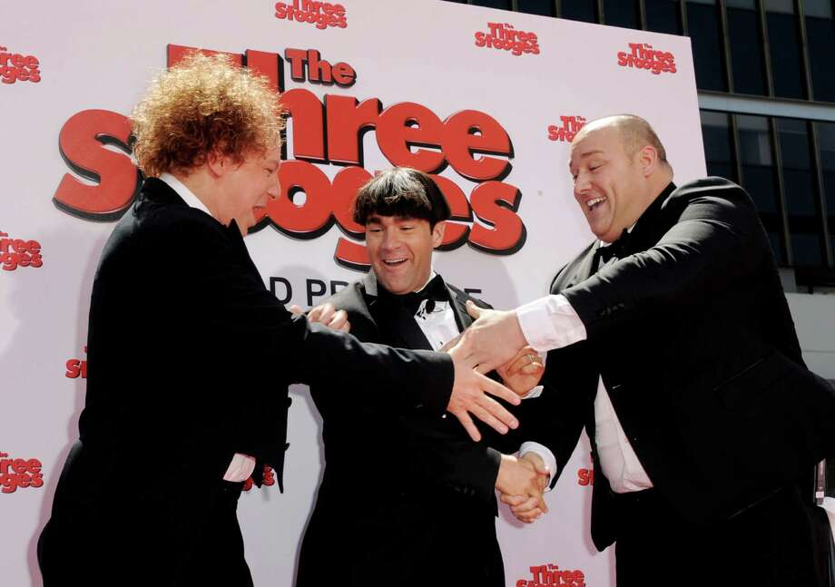 "Actors Sean Hayes, Chris Diamontopoulos and Will Sasso arrive at the premiere of Twentieth Century Fox's ""The Three Stooges"" at the Graumans Chinese Theater on April 7, 2012 in Los Angeles, California. Photo: Kevin Winter, Getty Images / 2012 Getty Images"