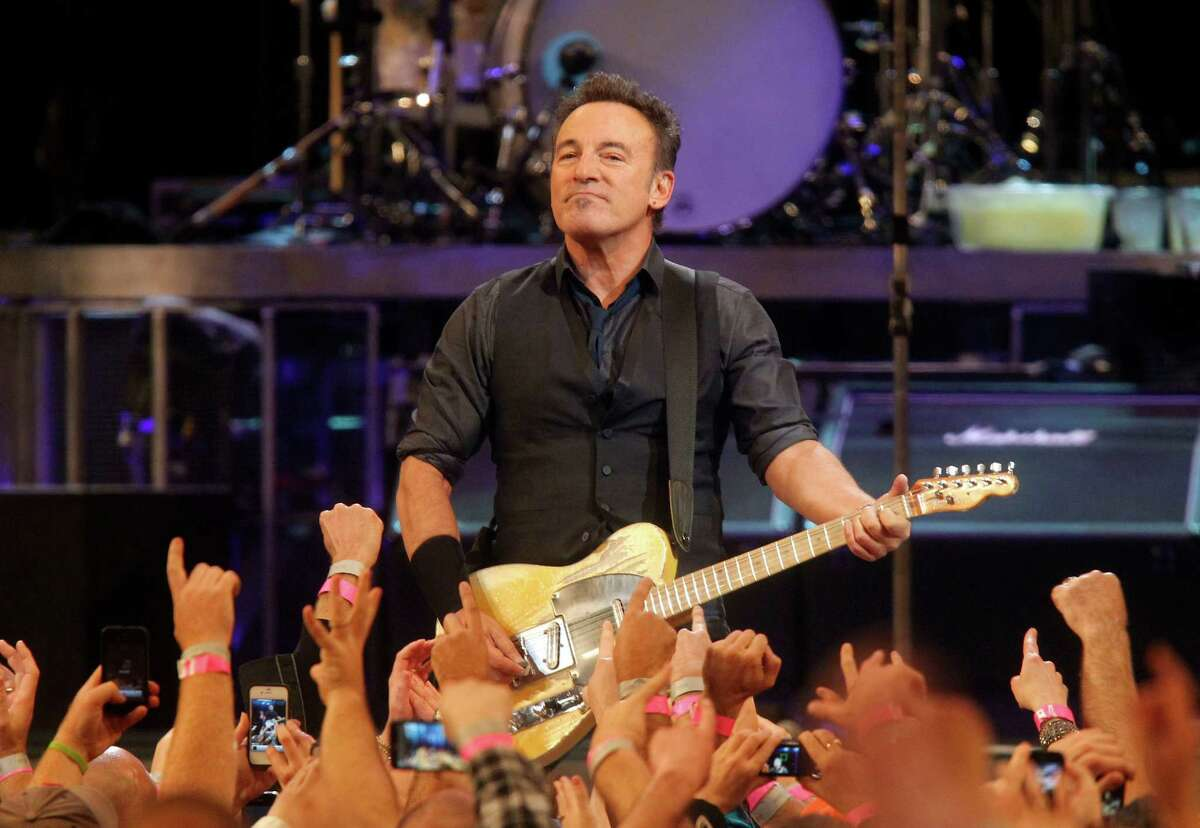 Bruce Springsteen performs with the E Street Band during a concert at Madison Square Garden, Friday, April 6, 2012 in New York.