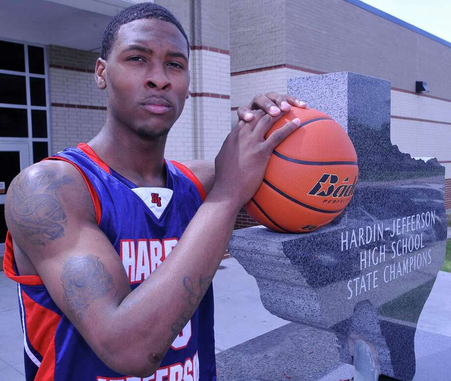 Hardin-Jefferson high school boys basketball player Shawn Prudhomme is this year's Super Gold Most Valuable Player for boys basketball. Dave Ryan/The Enterprise Photo: Dave Ryan