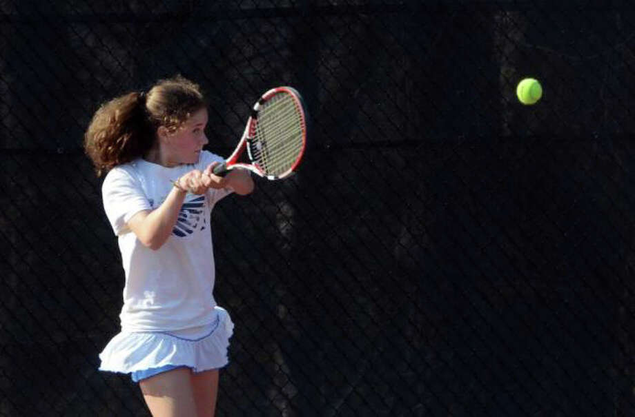 Ludlowe sophomore Daria Efimov will be the Falcons' No. 2 singles player. Photo: File Photo
