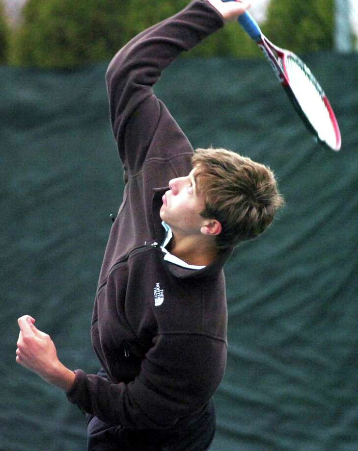 The Brunswick tennis team has to find a replacement for John Brosens who is now playing his tennis at Georgetown University. Photo: Keelin Daly, Greenwich Time