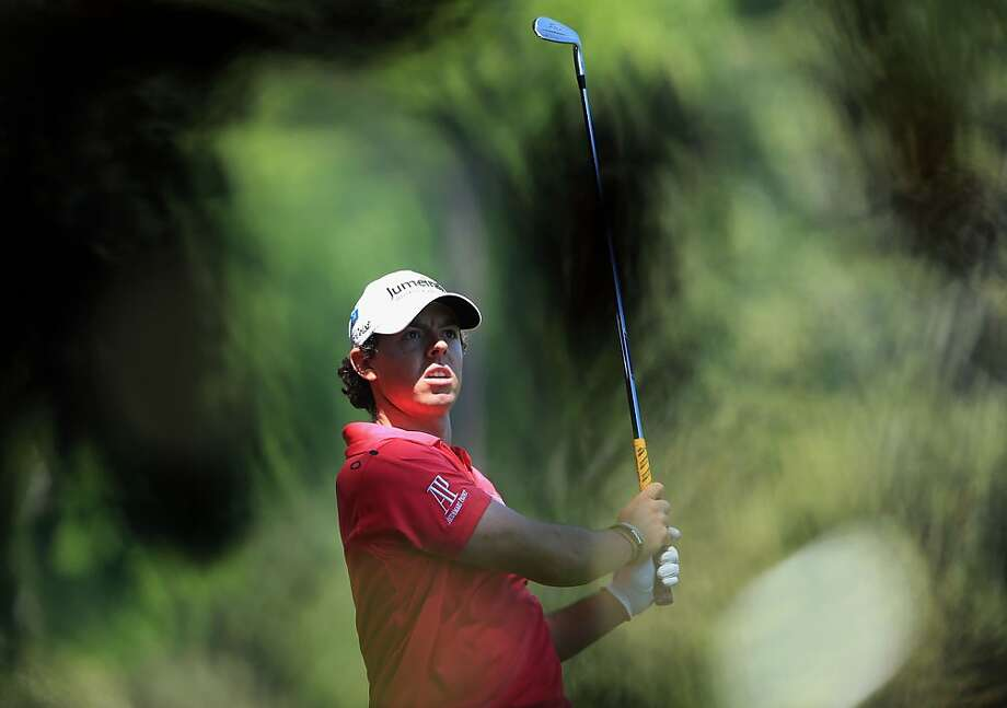 AUGUSTA, GA - APRIL 08:  Rory McIlroy of Northern Ireland plays his second shot to the fifth hole during the final round of the 2012 Masters Tournament at Augusta National Golf Club on April 8, 2012 in Augusta, Georgia.  (Photo by David Cannon/Getty Images) Photo: David Cannon, Getty Images