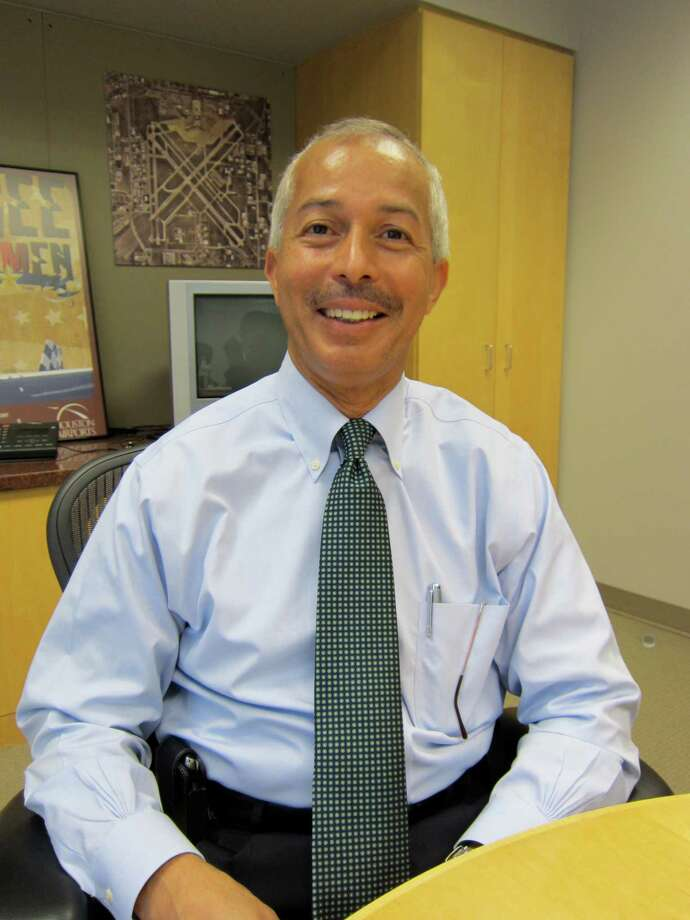 Mario Diaz recently took over as the Aviation Director for the Houston Airport System.  (Jenalia Moreno /Houston Chroncle)