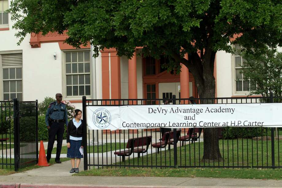 Closing DeVry Advantage Academy and Contemporary Learning Center would make the future of the historic Fifth Ward campus uncertain. Photo: Brett Coomer / © 2012 Houston Chronicle