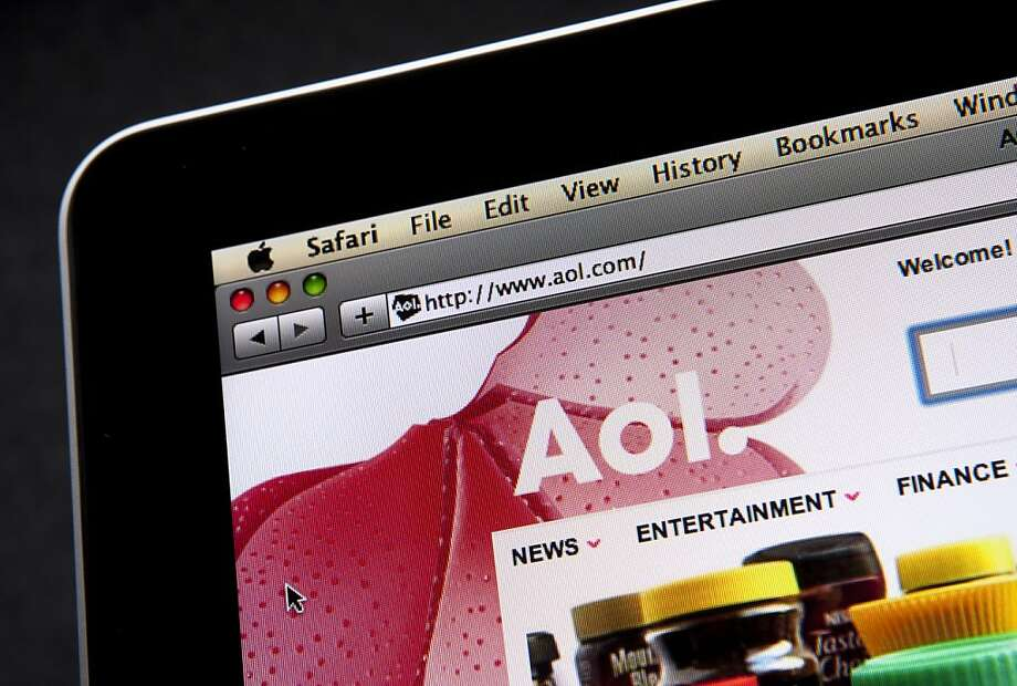 AOL stock surged after reporting a third-quarter profit amid stronger advertising sales. Photo: Scott Eells, Bloomberg