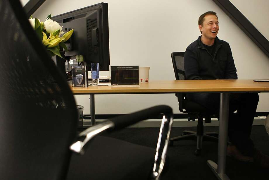 Elon Musk, CEO of Tesla Motors in Palo Alto Calif., on June 14, 2011. Photo: Audrey Whitmeyer-Weathers, The Chronicle