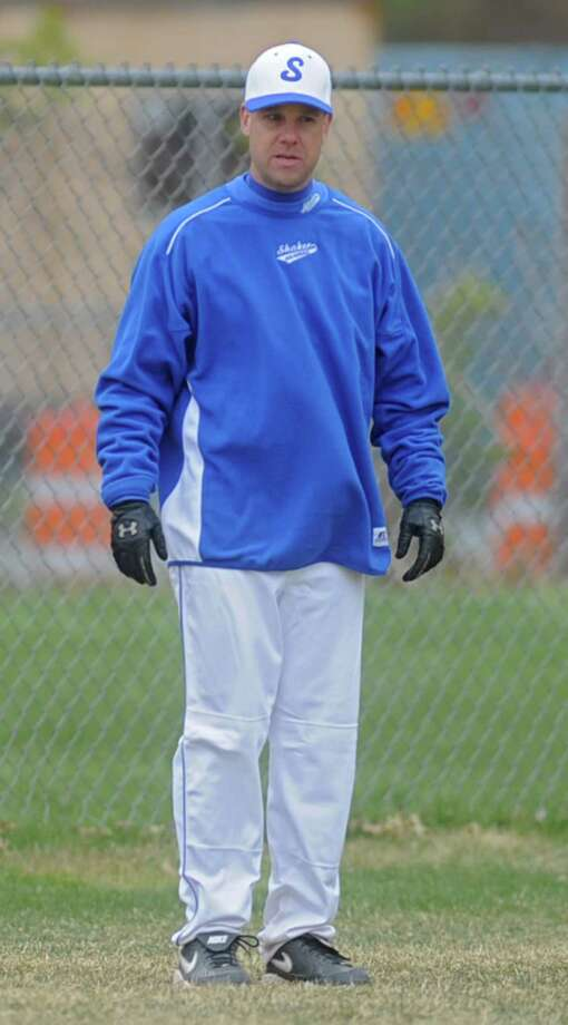 Shaker coach Steve Frank during a baseball game against Lansingburgh April 9, 2012 in Troy, N.Y. (Lori Van Buren / Times Union) Photo: Lori Van Buren