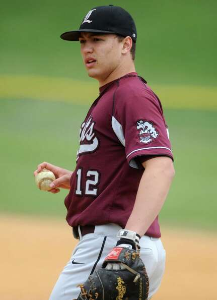 Lansingburgh first baseman Ryan McGrath  during a baseball game against Shaker April 9, 2012 in Troy