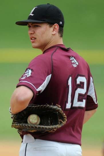Lansingburgh first baseman Ryan McGrath  during a baseball game against Shaker April 9, 2012 in Troy