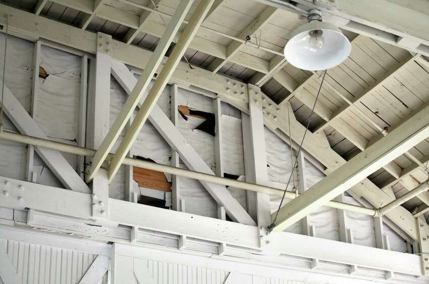 Repairs are needed at the Brooks City-Base Historic Hangar 9. Monday, April 9, 2012.