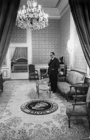 Judge Roy Hofheinz stands in the Presidential Suite at the Astrodome, September 1968. The suite was