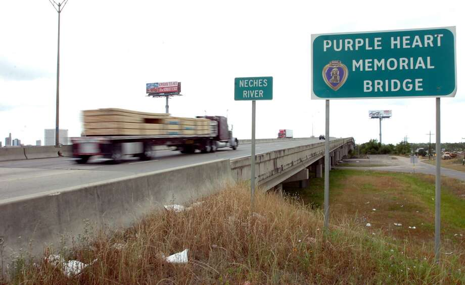 TxDOT will begin replacing the Interstate 10 over the Neches River, known as the Purple Heart Memorial Bridge, in the summer or fall of 2012. Pete Churton/The Enterprise Photo: Pete Churton
