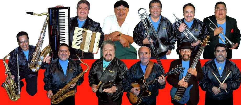 "San Antonion Tejano band Latin Heat --Left to right  (Top row): Francisco ""Panchito"" Morales, Robert Salinas Jr., Jesse ""Chuy"" González, , Rudy Mejia, Richard Garza, Jamos Morales; (Bottom row): Jesse Gonzales, Robert Salinas Sr., Bob Villa, Fernando ""Nando"" Aguilar and Mike Gonzales Photo: Courtesy Ramon Hernandez"