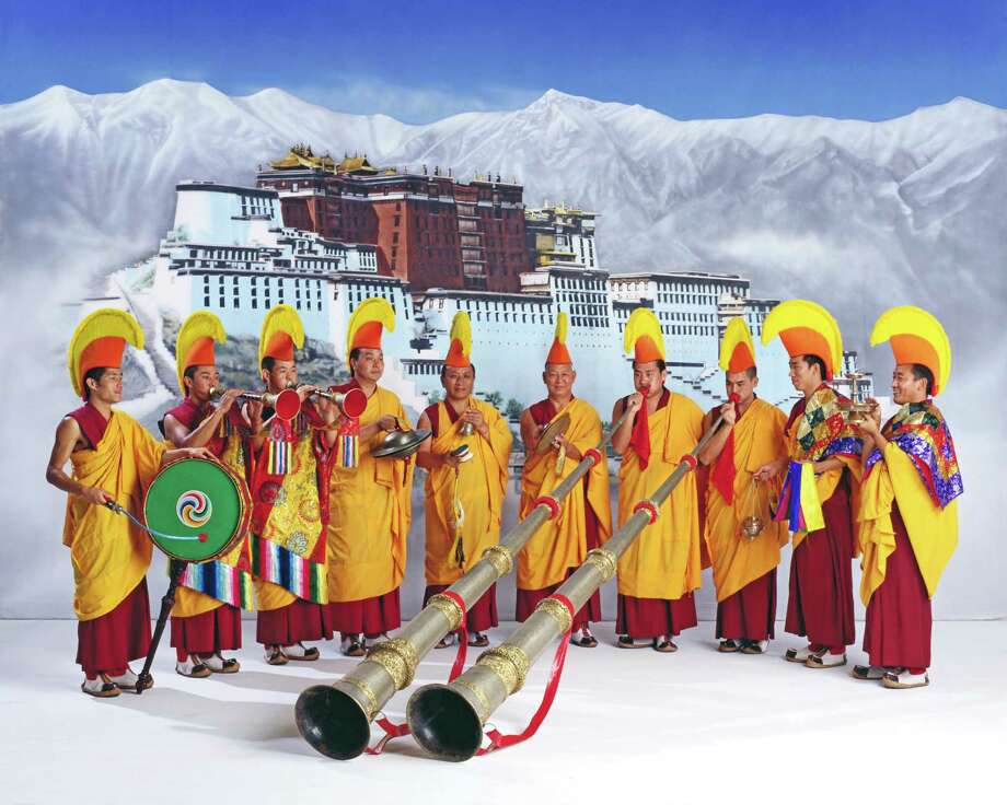 "Monks from the DrepungLoseling monastery perform in the ""Mystical Arts of Tibet"" tour. Courtesy Carver Community Cultural Center"