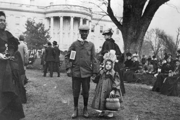 All dressed up for the Easter Egg Roll in 1898. President Rutherford B. Hayes started the tradition in 1878. (Courtesy of the White House Facebook)