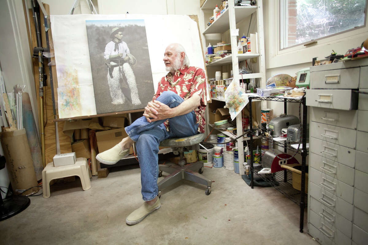 """""""Sometimes, I feel like a dental hygienist,"""" Wade says of his pay-the-bills work airbrushing old photographs between more high-profile projects."""
